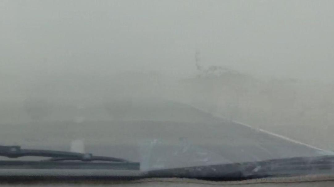 Burza piaskowa na Qeshm, kadr z vloga