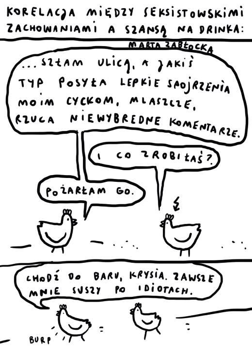 Rys. Marta Zabłocka, Życie-Na-Kreskę